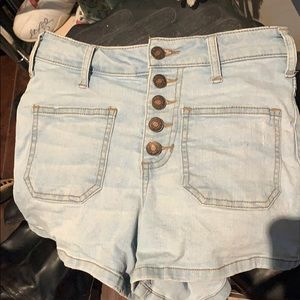 Pants - High waisted button front shorts